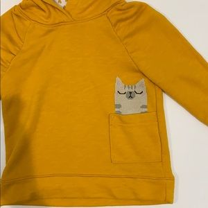 Cat & Jack Shirts & Tops - Girls 3T pull over yellow hoodie